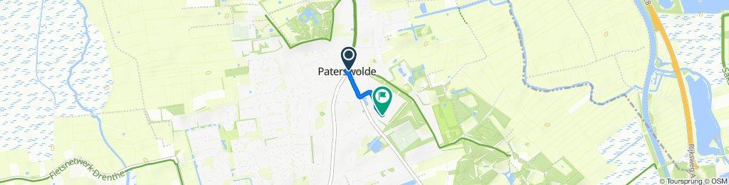 Mevrouw Bähler-Boermalaan 2A, Paterswolde naar Koningin Julianalaan 5, Paterswolde
