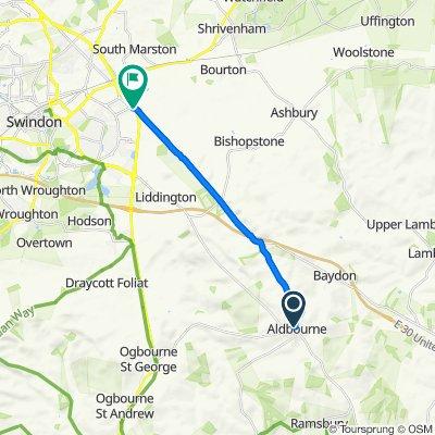 Back Lane, Marlborough to Merlin Way, Swindon