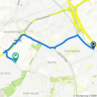 Merlin Way, Swindon to 81 Marlowe Avenue, Swindon