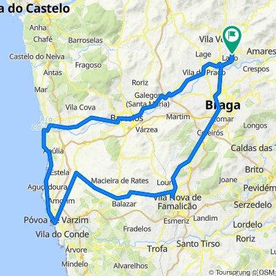 Rendufe - Barcelos - Apúlia - Póvoa do Varzim - Famalicão - Braga - Rendufe