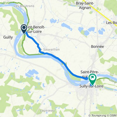 De 38 Rue du Port, Saint-Benoît-sur-Loire à 2A Place Maurice de Sully, Sully-sur-Loire