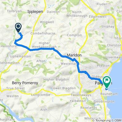 Route to Eastern Esplanade, Paignton