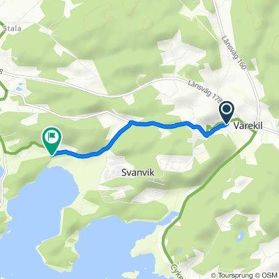 Route von Hedströms väg 1A, Varekil