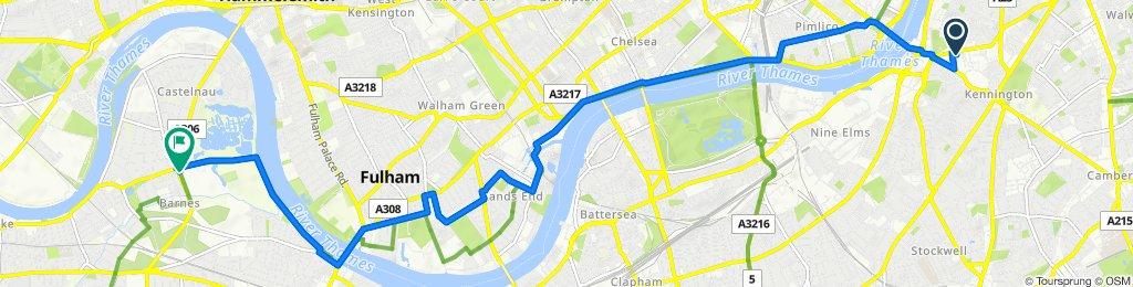 331 Kennington Lane, London to 1 Queen Elizabeth Walk, London