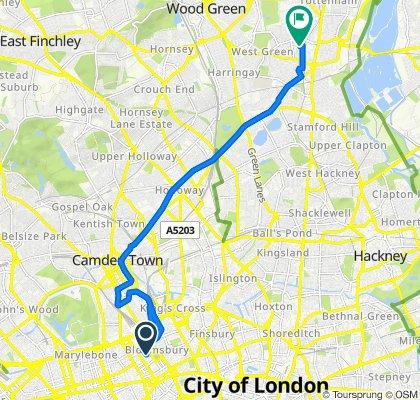 9–19 Torrington Square, London to 8 Clyde Circus, London