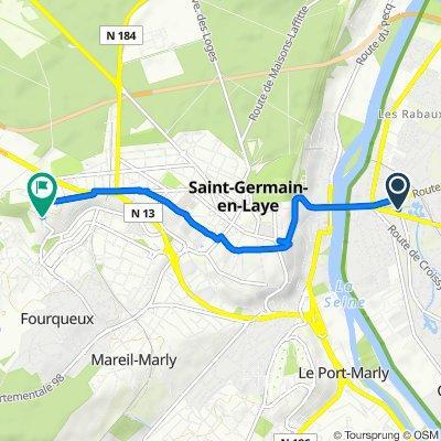 55 Boulevard d'Angleterre, Le Vésinet to 2 Rue du Fer à Cheval, Saint-Germain-en-Laye