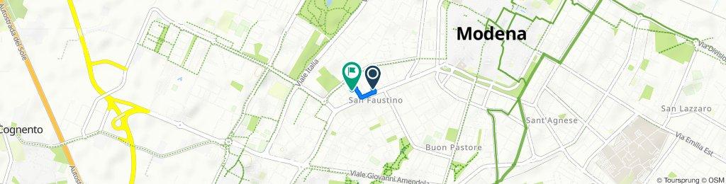 Da Strada San Faustino 7, Modena a Via Giovanni Grillenzoni 15, Modena