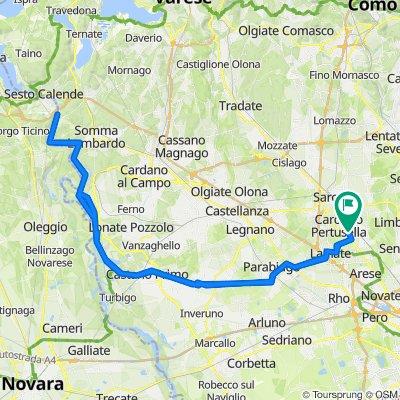 Da Via Bainsizza 241, Caronno Pertusella a Via Bainsizza 241, Caronno Pertusella