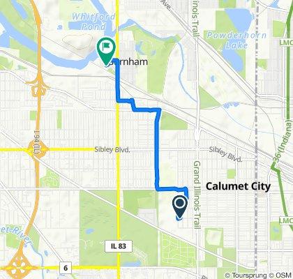 732–798 157th St, Calumet City to 14130 S Calhoun Ave, Burnham