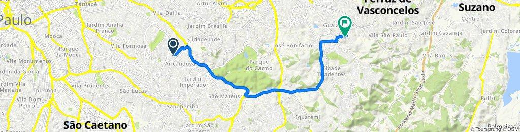 De Rua Oscar Cordeiro, 41, São Paulo a Rua Estanislau de Toledo Piza, 31, São Paulo