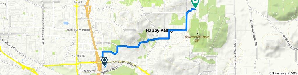 9800 SE Stevens Rd, Clackamas to 15023 SE Pebble Beach Dr, Happy Valley
