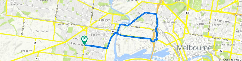 Kingsville loop via Moonee Ponds creek
