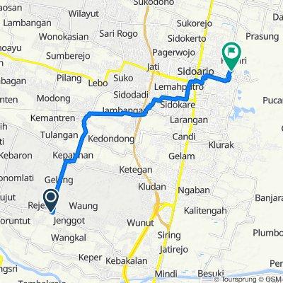 Jalan Raya Ploso 1932, Kecamatan Krembung to Jalan Pondok Buana 12, Kecamatan Sidoarjo