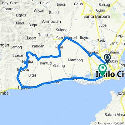 Cuartero Street, Iloilo City to M.H del Pilar Street, Iloilo City