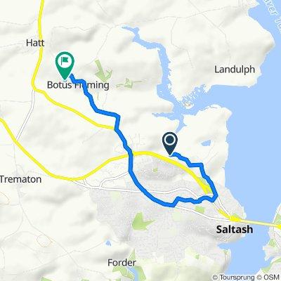 Route from Pill Lane, Saltash