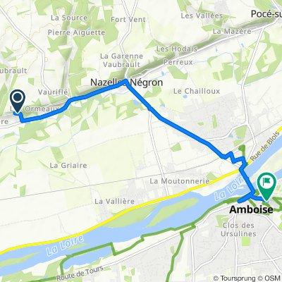 De 4 Côte de la Guépière, Nazelles-Négron à 11 Rue Victor Hugo, Amboise