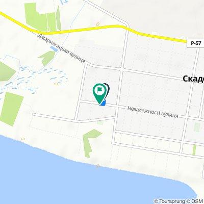 маршрут с вулиця Свободи 34, Скадовськ