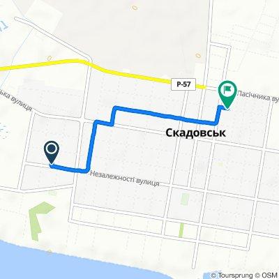 маршрут с вулиця Свободи 32, Скадовськ
