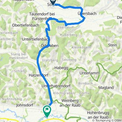 Söchau 3, Söchau nach Bahnhofstraße, Fehring