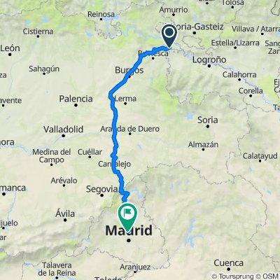 De Autopista del Norte, Ameyugo a Calle del Collado de Tirobarra, 9–11, Madrid