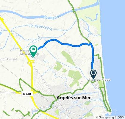 De 527 Avenue du Tech, Argelès-sur-Mer à Avenue Nelson Mandela, Argelès-sur-Mer