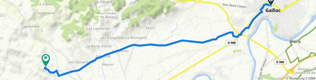 De Rue Marcellin Berthelot, Gaillac à Saint-Corneille, Lisle-sur-Tarn