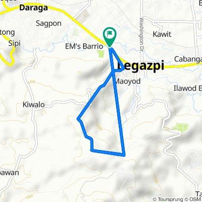 Rizal Street 1048, Legazpi City to Rizal Street 1048, Legazpi City