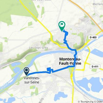 De Rue du Stade, Varennes-sur-Seine à Boulevard Voltaire, Montereau-Fault-Yonne