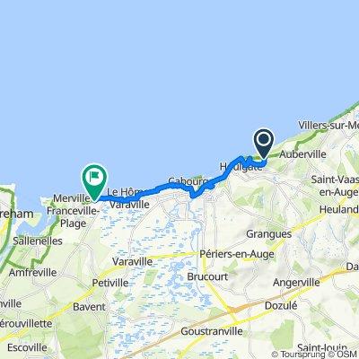 1266 Route de la Corniche, Gonneville-sur-Mer nach 81 Route de Cabourg, Merville-Franceville-Plage