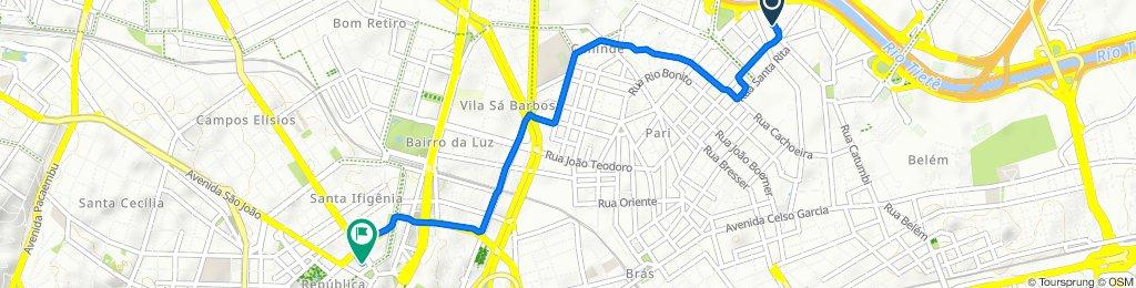 De Rua Paulo Andrighetti, 1573, São Paulo a Avenida Rio Branco, 53, São Paulo
