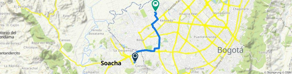 De Calle 1 232, Soacha a Diagonal 33 Sur 90-17, Bogotá