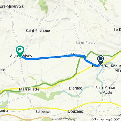 De Place Cambriel-Bessière 9, Puichéric à Avenue de la Pompe 2, Aigues-Vives