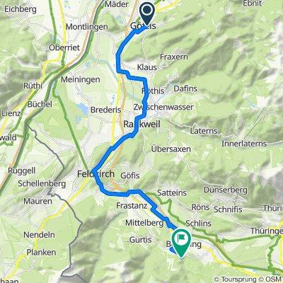 Götzis zum Alpencamping über