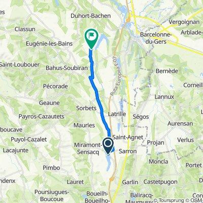 2400 Route des Lacs, Miramont-Sensacq to 96 Chem de Beaulac, Duhort-Bachen