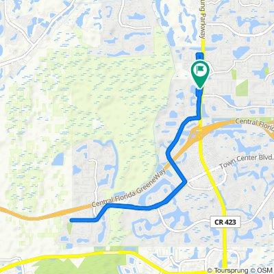 12543 Appomatox Dr, Orlando to 12537 Appomatox Dr, Orlando