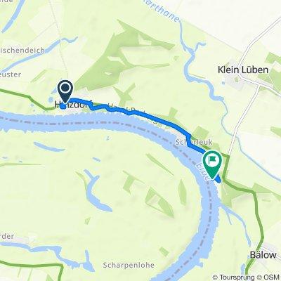 Route von Dorfstraße 9, Wittenberge