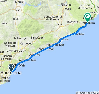 Day 1, Barcelona to Platja D'aro