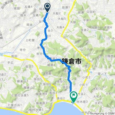 1-8, Dai 1-Chōme, Kamakura-Shi to 国道134号, Kamakura-Shi
