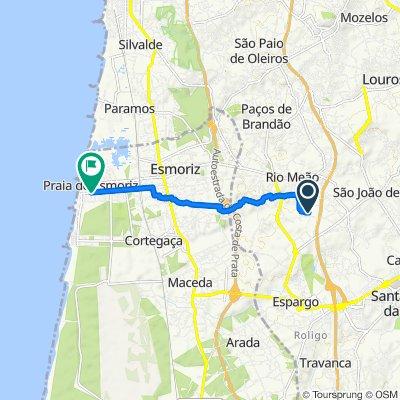 De Travessa do Moinho, Santa Maria da Feira a Avenida da Praia 2077–2093, Ovar