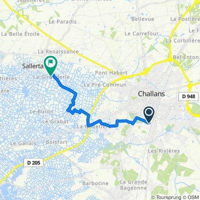 Itinéraire modéré en Sallertaine