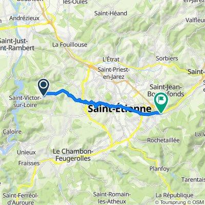 Itinéraire modéré en Saint-Étienne