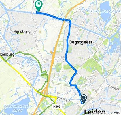 Vondellaan 47, Leiden naar Bankijkerweg 41, Rijnsburg