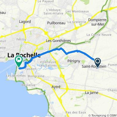 De 35 Rue de La Rochelle, Saint-Rogatien à 107 Avenue Michel Crépeau, La Rochelle