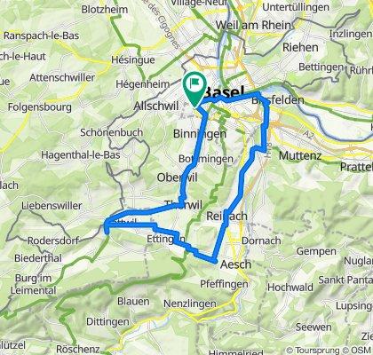 Basel - Therwil - Flüh - Ettingen - Reinach - Birsfelden - Basel