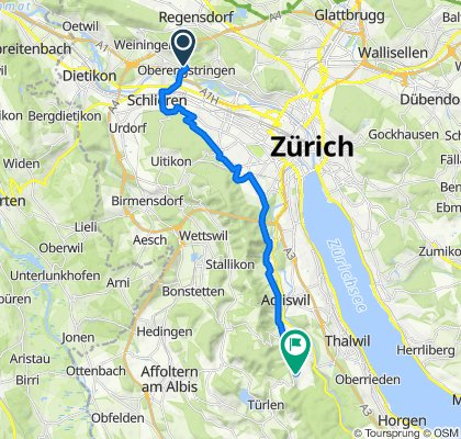Ankenhofstrasse 7, Oberengstringen nach Oberrenggstrasse 31, Langnau am Albis