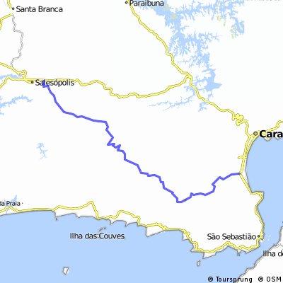 Estrada da Petrobras - Salesópolis até Caraguatatuba - Estrada do Sol CLONED FROM ROUTE 318201