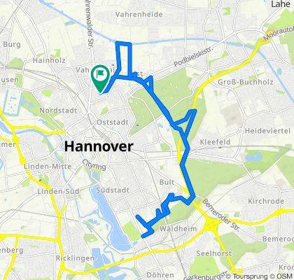 Robertstraße 25, Hannover to Roonstraße 25, Hannover