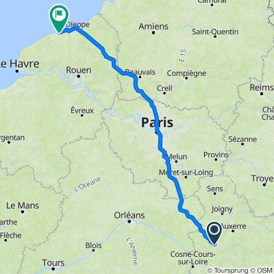 De Les Gauchers 4, Fontenoy à Route de Blosseville 6, Veules-les-Roses