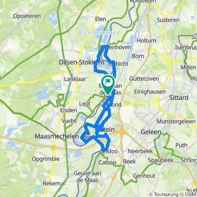 Berg aan de Maas - Ründchen Maasband - Meers - Elsloo - Nieuwdorp - Stein - Urmond - Nattenhoven - Obbicht - Grevenbicht - Stokkem und zurück 2020