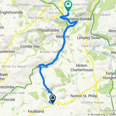 Wells Road, Radstock to Rockery Park, North Road, Bath